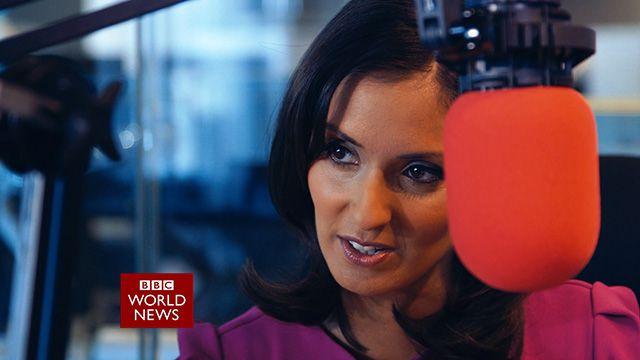 Babita Sharma in the BBC World News studio