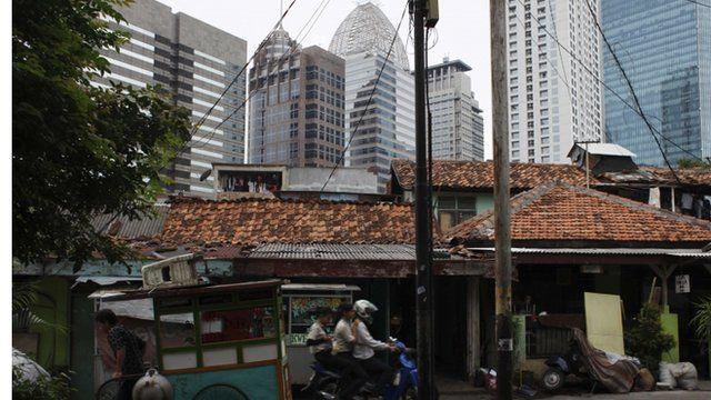 High rise buildings in Jakarta