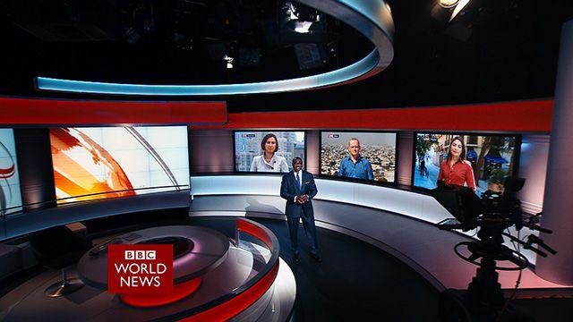 Komla Dumor in BBC World News studio