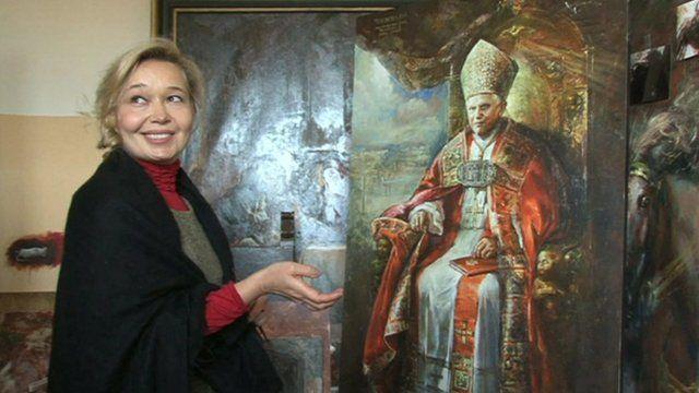 Natalia Tsarkova, official Vatican court painter