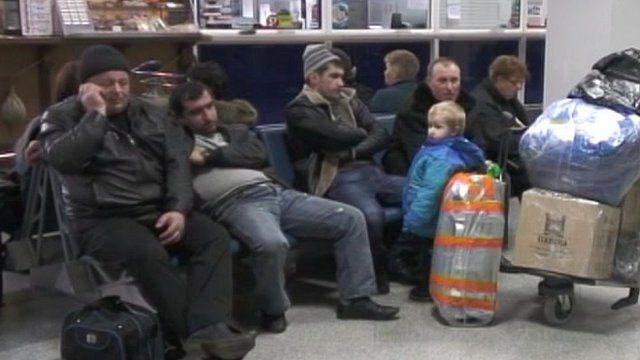 Aerosvit passengers stranded in airports