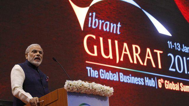 Gujarat's Chief Minister Narendra Modi