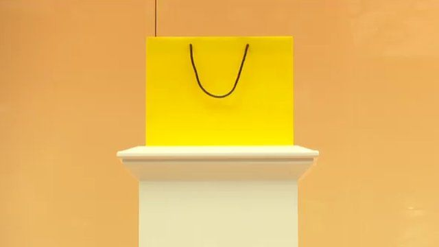 The famous Selfridge's carrier bag without the branding