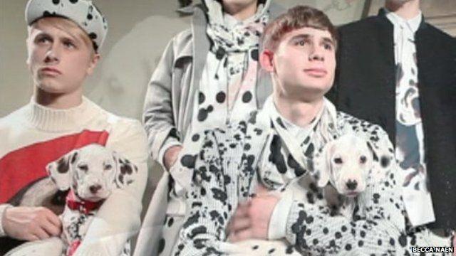 Dalmatian puppies in photoshoot for menswear designer Joseph Turvey