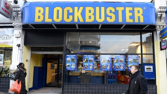 Blockbuster store in London