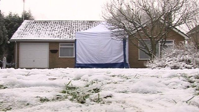 Bungalow with scene of crime tent