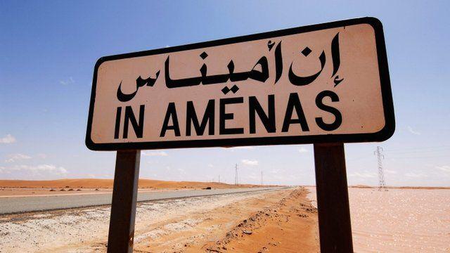 In Amenas sign