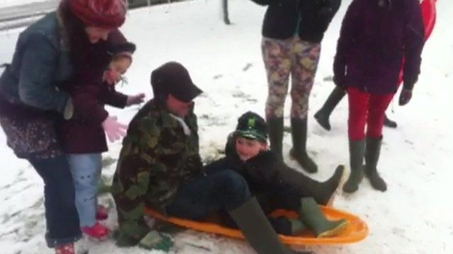Children enjoying the snow