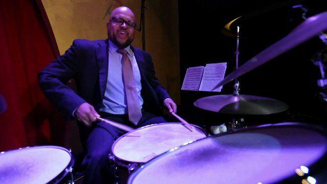Jazz drummer Alvester Garnet
