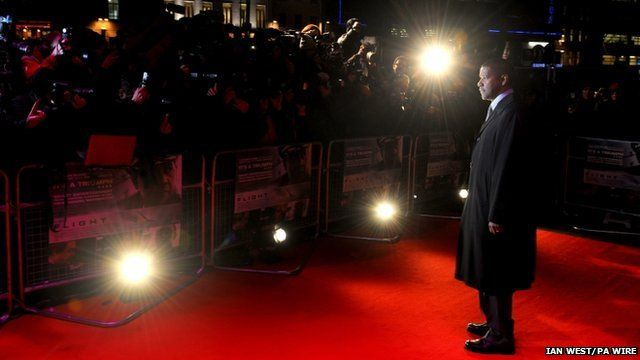 Denzel Washington at Flight premiere
