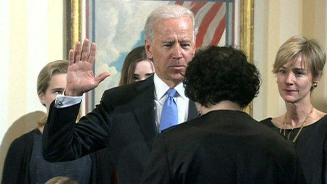 Vice-President Joe Biden takes the oath of office