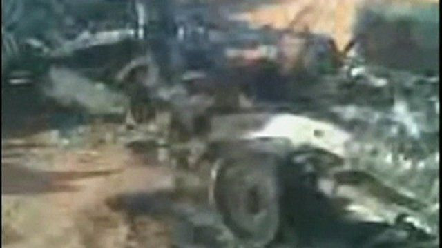 Moibile phone footage believed to show attempts to end the siege