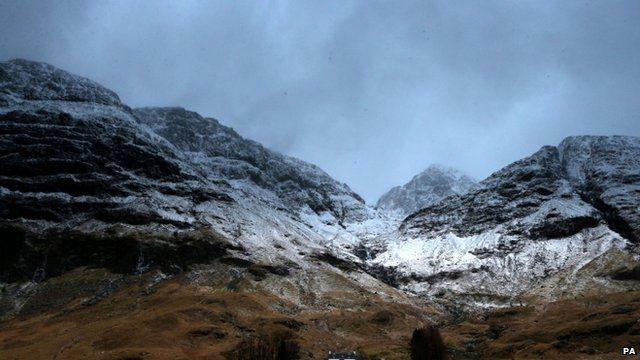 The mountain range at Glencoe towards Bidean Nam Bian