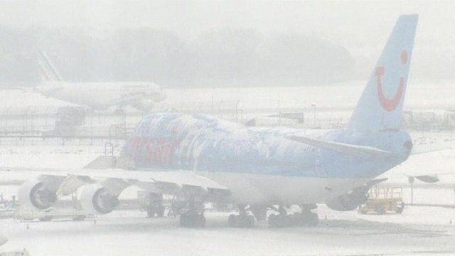 A stranded plane at Paris Orly Airport