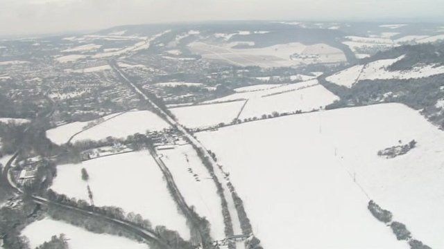 Snowy scenes across south-east England