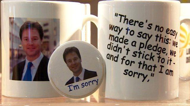 Lib Dem cups and badge