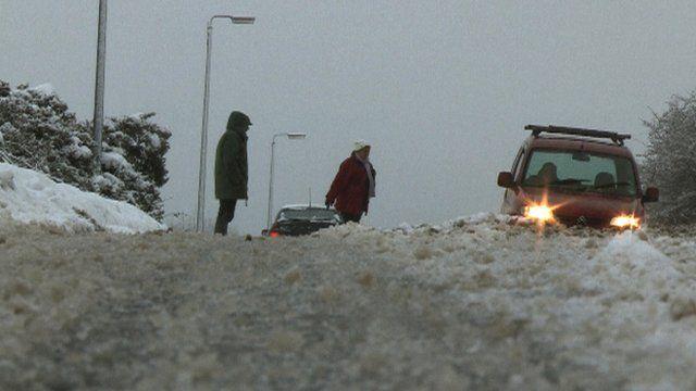 Snow in Belfast