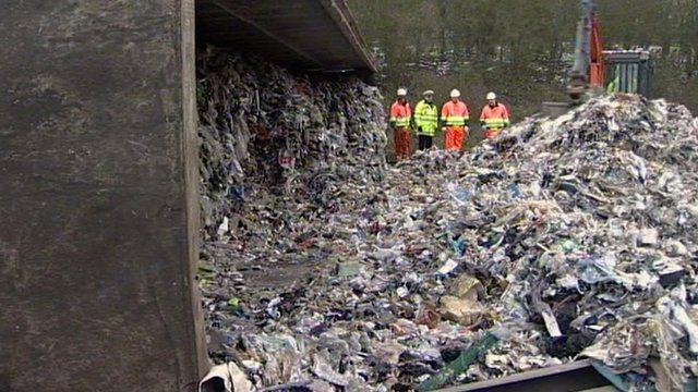 Rubbish strewn across the A12 in Essex