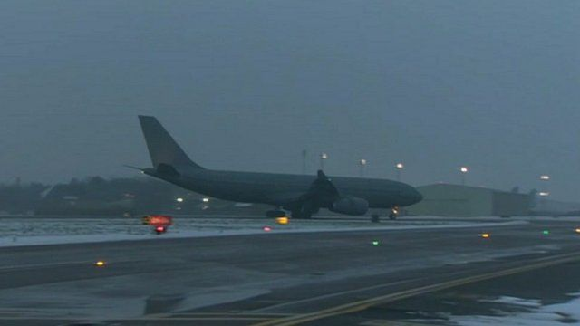 Prince Harry arrived at RAF Brize Norton