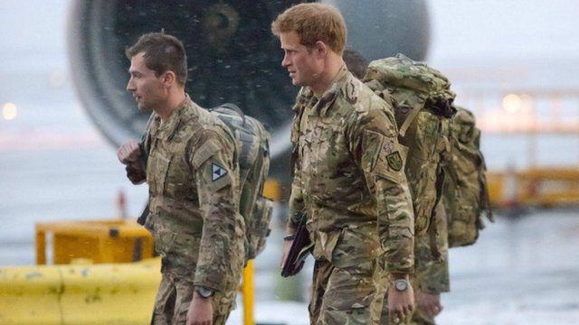 Prince Harry disembarking plane