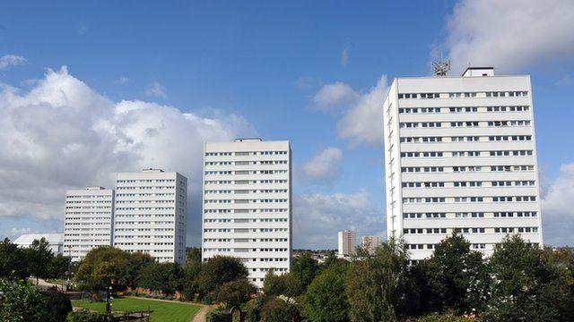 Council flats in Birmingham
