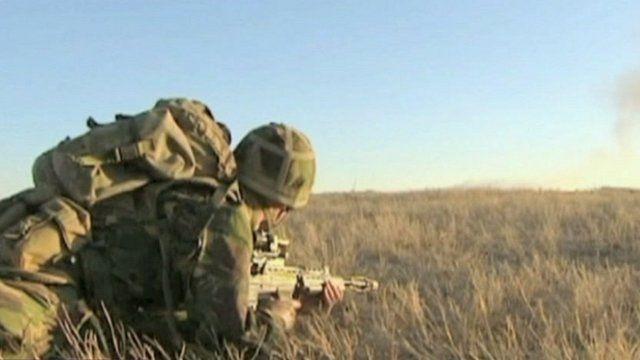 British soldier training in Kenya