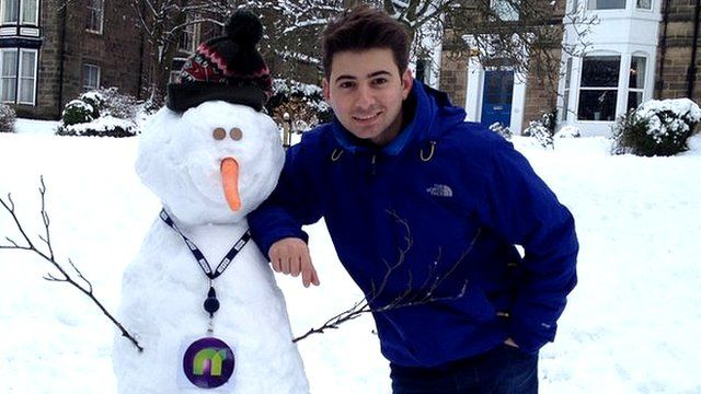 Ricky and John, the Newsround snowman