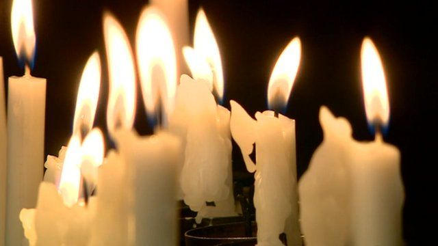 Candles at a memorial service