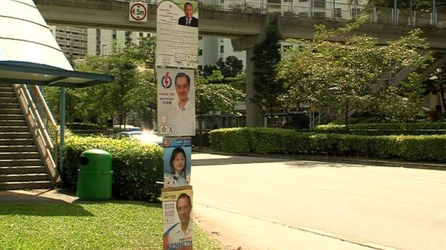 Election posters in Singapore