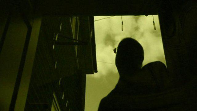 Man in doorway