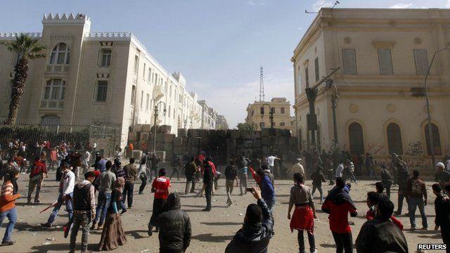 Protestors in Cairo