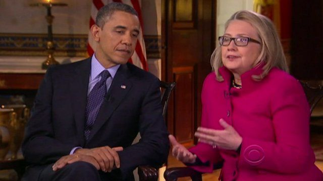 Barack Obama and Hilary Clinton