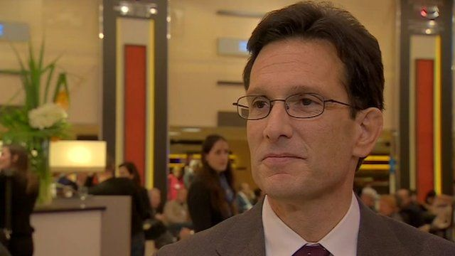 Eric Cantor at Davos