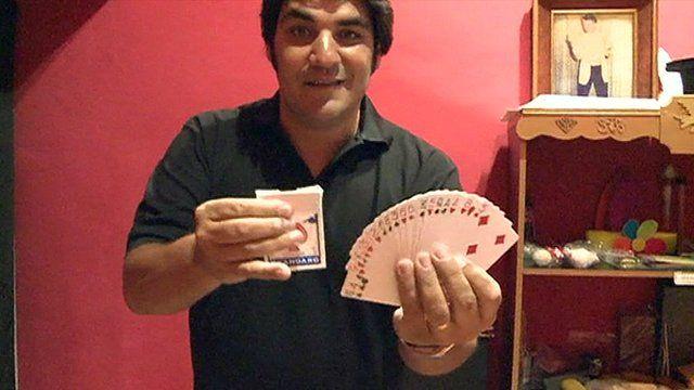 Argentinean magician Tony Montana