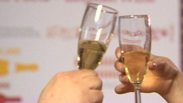 Wine in glasses