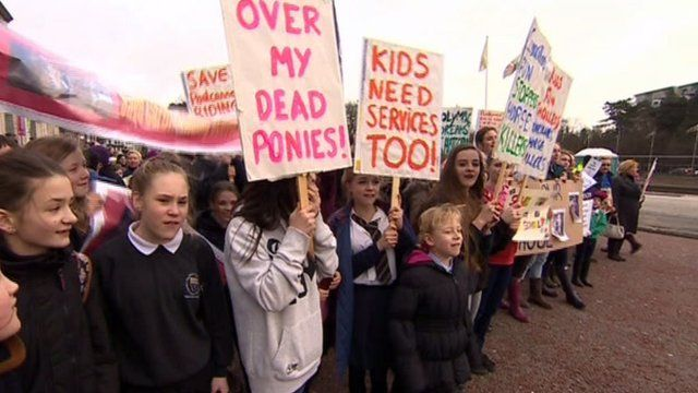 Riding centre protest in Cardiff