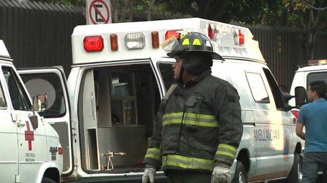 Fireman at scene of blast