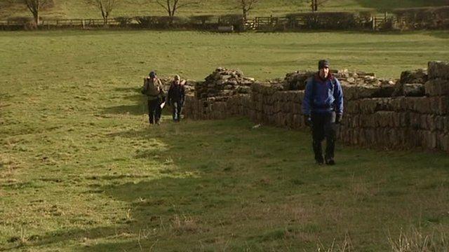 Walkers on Hadrian's Wall
