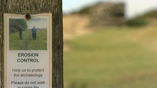 Poster on erosion control near to Hadrian's wall