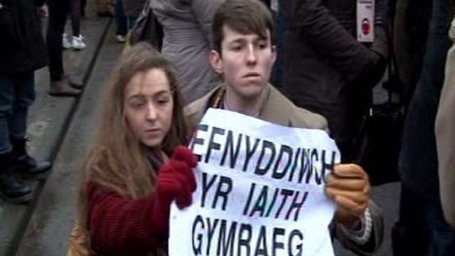 Re-enactment of 1963 language protest