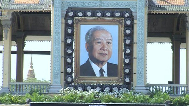 Portrait of King Sihanouk