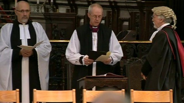 The new Archbishop of Canterbury, Justin Welby