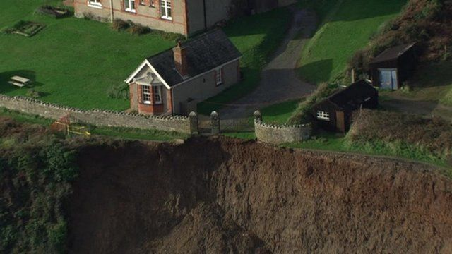 Landslip along the South West Coast Path
