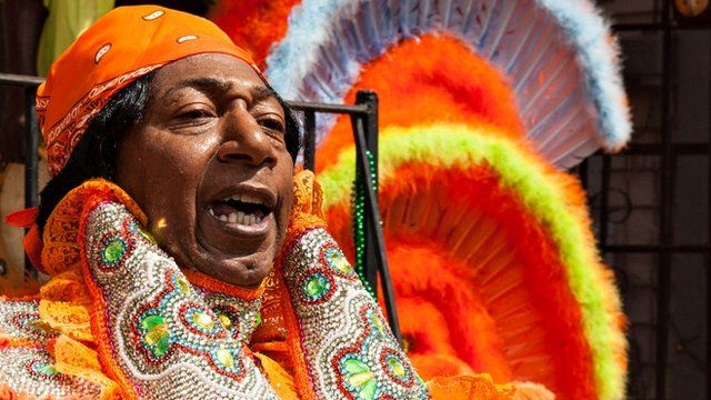 Chief of Mardi Gras Indians gets ready for the big day