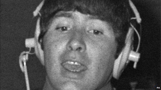 Reg Presley during a recording session with the Troggs