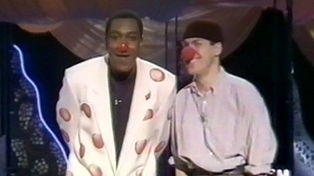 Lenny Henry and Griff Rhys Jones on the first Comic Relief in 1988