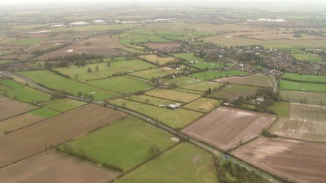 East Midlands from the air
