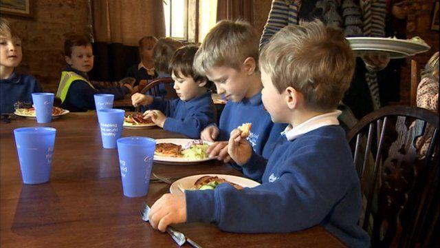 Swell Church of England Primary School children