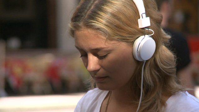 Headphone wearer in Leeds
