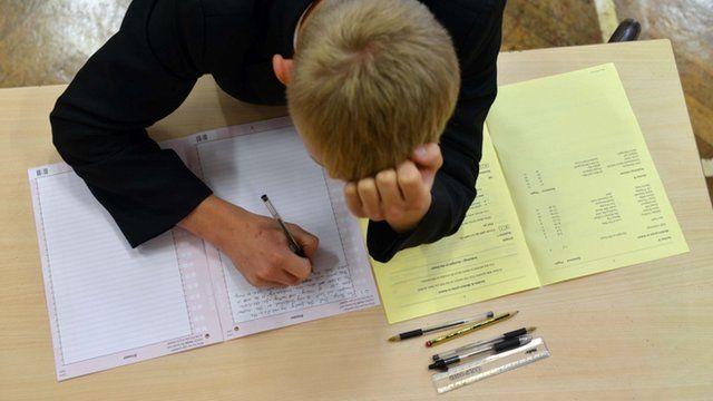 Pupils sitting GCSE exams